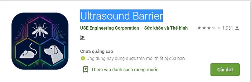 Ultrasound Barrier - đuổi chuột bằng điện thoại